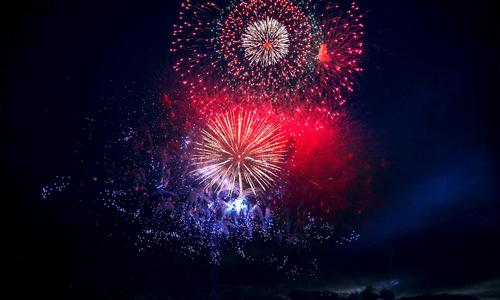 神津島 渚の花火大会
